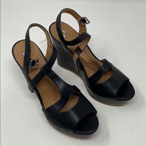 Bp Black Wedge Sandals Size 6